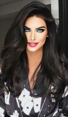 Most Beautiful Eyes, Stunning Eyes, Beautiful Women Pictures, Beautiful Girl Image, Girl Face, Woman Face, Beauty Full Girl, Beauty Women, Brunette Beauty