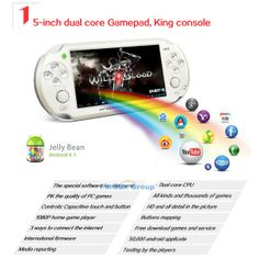 """JXD S5110B 5"""" Android Cortex A9 Dual Core Game Console 1GB DDR3 RAM 8GB ROM WiFi camera capacitive touch screen"""