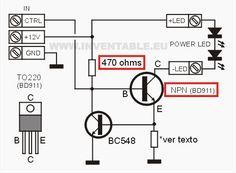 Circuito del driver para LEDs con un transistor