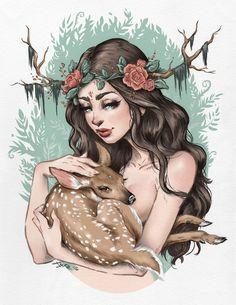 "meritinpu: "" fuckyeahillustrativeart: "" by Lyfe Illustration Follow them on: Tumblr! Instagram! Twitter! "" @witchofkeys """