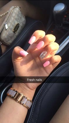 Short Square Acrylic Nails, Simple Acrylic Nails, Summer Acrylic Nails, Aycrlic Nails, Dope Nails, Pink Nails, Bride Nails, Manicure Y Pedicure, Dream Nails