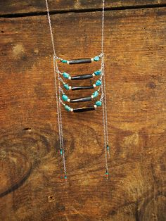 Silver Native American Inspired Chain Breastplate Necklace