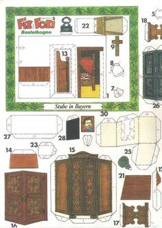 western lok santa f 1 24 bastelbogen f r kinder zum ausschneiden und kleben schreiber. Black Bedroom Furniture Sets. Home Design Ideas