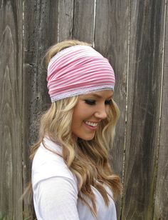 Striped Stretch Jersey Knit Headband with Stretch by HillNTrees, $18.00