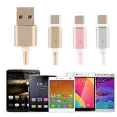 Type-C Max 2.4A Magnetic USB Charger Cord Sync Data Cable USB For Android