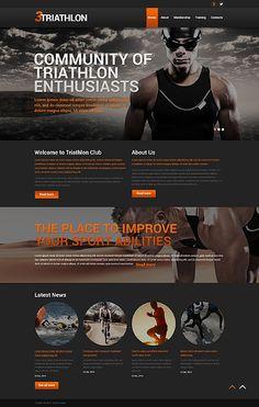 Template 50516 - Triathlon Club Responsive Bootstrap Website Template