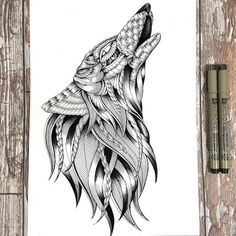 Majestic Animal Illustrations Hand Drawn with Intricately Hypnotizing Patterns - My Modern Met