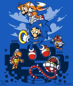 Super Sonic Bros by AtomicRocket
