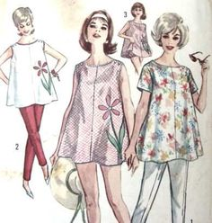 Vintage Maternity Top Sewing Pattern 36 Bust Pants by fishstique, $9.00