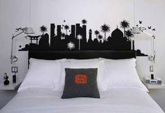 Cabeceros de vinilo para decorar tu cama 3
