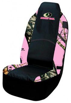 Pink Mossy Oak Universal Seat Cover