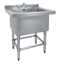 Stainless Steel Single Pot Wash Catering Sink Top of the range heavy duty all Stainless Steel Single Pot Wash Catering Sink This item is ideal for