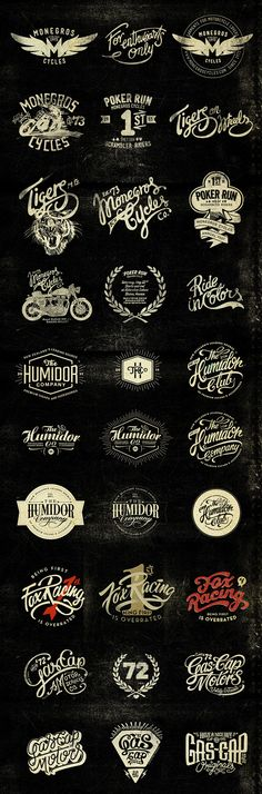 Vintage inspired logo design Alex Ramon Mas designs on Behance Typography Logo, Art Logo, Typography Design, Typography Served, Calligraphy Logo, Design Logo Inspiration, Design Ideas, Create Logo, Web Responsive