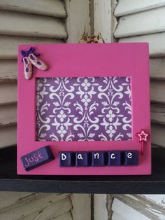 adorable for your lil dancer    just dance picture frame