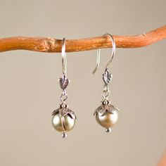 FREE SHIPPING Champagne Pearls with Thai by VerdantJewelryDesign, $25.00