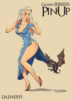 El ilustrador ruso Andrew Torusov retrata a las protagonistas de 'Juego de Tronos' al estilo Pin-Up, en actitud eroticamente sugerente.