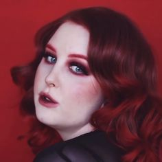 We're Over the Moon in LOVE with in our highly pigmented Blood Moon Red Burgundy Hair Color, Dark Red Hair, Hair Game, Blood Moon, Dream Hair, Have A Great Day, Girly Things, Curls, Wigs