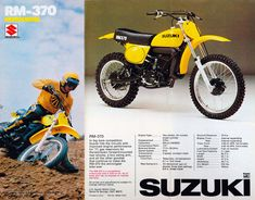 A few more old school Bike ads - Moto-Related - Motocross Forums / Message Boards - Vital MX Suzuki Dirt Bikes, Suzuki Motocross, Mx Bikes, Motocross Bikes, Vintage Motocross, Sport Bikes, Moto Bike, Dirtbikes, Engine Types