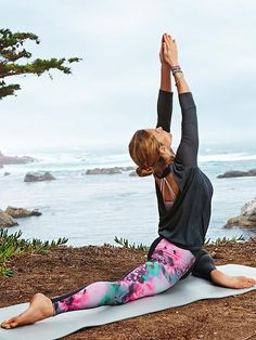 High Rise Bloom Chaturanga Tight | Athleta More Yoga Styles, Tights Products, Products Images High Rise Bloom Chaturanga#153 Tight Product Image