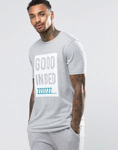 ASOS Loungewear T-Shirt With Good In Bed Print