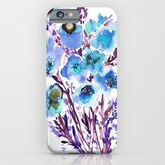 Bouquet Blue iPhone & iPod Case