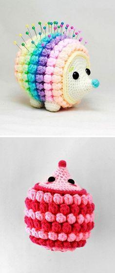 Crochet Hedgehog Tutorial - Design Peak Crochet Hedgehog Tutorial - Design Peak Learn the rudiments Crochet Pincushion, Crochet Cap, Love Crochet, Crochet Flowers, Crochet Toys, Amigurumi Patterns, Knitting Patterns, Crochet Projects, Hedgehogs