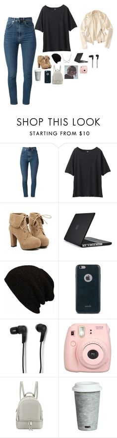 """""""Untitled #414"""" by simoneplace17 ❤ liked on Polyvore featuring Yves Saint Laurent, Uniqlo, TURNOVER, Speck, Moshi, Bang & Olufsen, Fujifilm, MICHAEL Michael Kors, Fitz & Floyd and Aéropostale"""