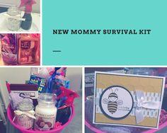 New Mommy Survival Kit Gift Basket DIY Lavender