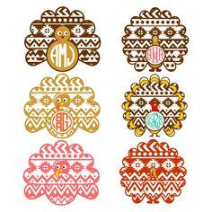 Turkey Aztec Svg Cuttable Designs