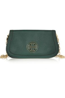 Tory Burch Amanda textured-leather clutch  | THE OUTNET