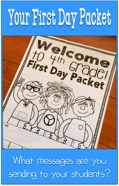 The Secret Messages in Your First Day Packet - literacylovescompany.com