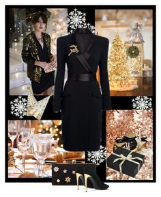 """""""Christmas party"""" by frenchfriesblackmg ❤ liked on Polyvore featuring Pier 1 Imports, Amara, GUESS, Temperley London, John Lewis, Jimmy Choo and STELLA McCARTNEY"""
