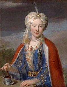 Jean Baptiste Van Loo, Portrait of a woman in a Turkish costume, 18th century.  © Ville de Marseille, Dist. RMN-Grand Palais / Jean Bernard