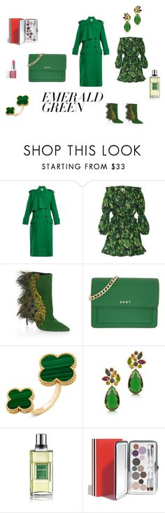 """""""Green morning"""" by micettes ❤ liked on Polyvore featuring Valentino, Caroline Constas, Paul Andrew, DKNY, Forzieri, Guerlain and Clinique"""