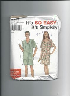 Simplicity 9284 Misses Men's and Teens by VintageSewingShoppe