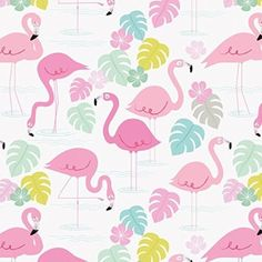 5 Sheets Of Flamingo Bay Gift Wrapping Paper