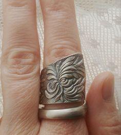 Chrysanthemum Ring Floral Ring Flower Ring Wide by Spoonier