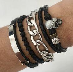 Joyeria Hombres. Visita nuestro perfil de instagram Bracelets, Leather, Men, Jewelry, Fashion, Moda, Jewels, Fashion Styles, Schmuck