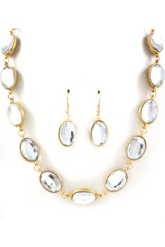 Audrey Necklace in Crystal on Emma Stine Limited $58