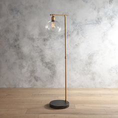 18h metal wood lamp with glass shade includes light bulb 60 watt base finish gold material metalglass number of lights 1 shade material glass dimensions overall product weigh mozeypictures Images