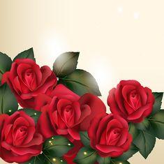 Gyönyörű vektor háttér vintage stílusú rózsa virág