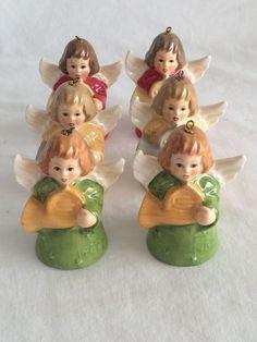 1982 Goebel Hummel Angel Bell Ornaments w. germany Set of 6