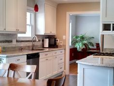CliqStudios Painted White kitchen cabinets in the Dayton style