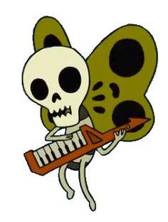 Skeleton Butterfly love the skeleflies from adventure time! Adventure Time Tattoo, Adventure Time Book, Tree Trunks Adventure Time, Adventure Time Pictures, Adventure Time Drawings, Adventure Time Characters, Adveture Time, Arte Indie, Adventure Time Wallpaper
