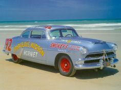 1954 Hudson Hornet - NASCAR - on the beach.