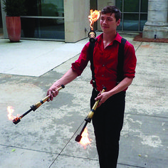 Here is Zac, Zac juggles fire like no one's business, Zac knows how to put on a killer show! want to be entertained? Hire Zac!  #juggling #firejuggling #Fire #TheImperialOPA #Circus #Atlanta #OPA #AtlantaCircus ------------- #1 rated entertainment booking company in GA!   Contact us today and lets make unforgettable events together!