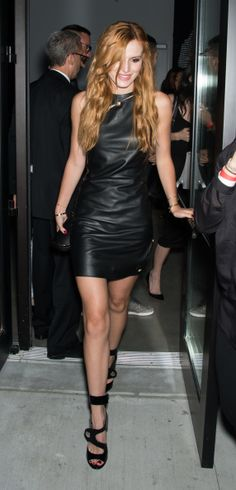 Actress Bella Thorne is seen at the Versus Versace Spring 2015 Collection during Mercedes-Benz Fashion Week at Metropolitan West on September 7, 2014 in New York City. (Photo by Gilbert Carrasquillo/Getty Images)