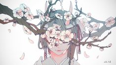 On the Gray Border Anime Art Girl, Manga Art, Anime Girls, Aesthetic Art, Aesthetic Anime, Character Illustration, Illustration Art, Arte Obscura, Image Manga