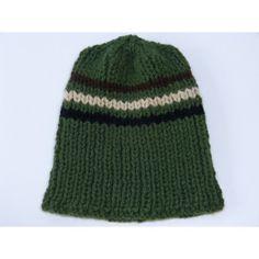 ee99bf832ef Bonnet homme   adolescent tricoté main en laine douce et chaude de couleur  vert kaki style