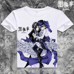 Black Butler Short Sleeve Anime T-Shirt - OtakuForest.com